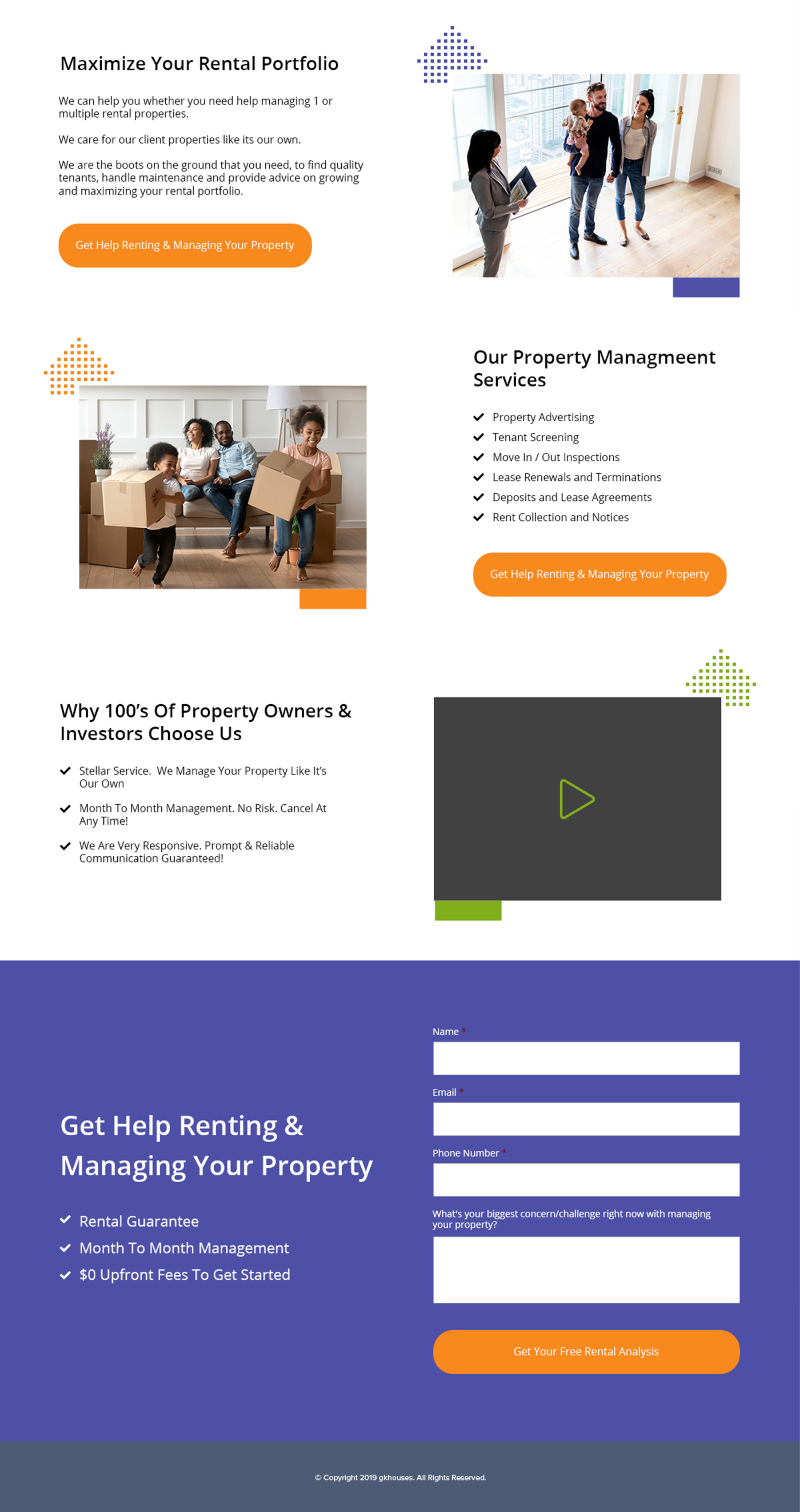 GK Houses Landing Page Design Project